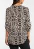 Plus Size Printed Tunic Top alt view