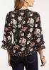 Floral Ruffle Wrap Top alternate view