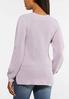 Plus Size Lavender Cutout Sleeve Sweater alternate view