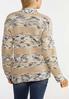 Plus Size Neutral Navy Cardigan Sweater alternate view