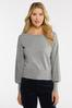 Plus Size Gray Cable Knit Sweater alt view