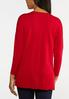 Plus Size Seamed V- Neck Sweater alternate view
