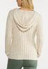 Plus Size Speckled Cable Knit Sweater alternate view