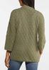 Plus Size Diamond Cardigan Sweater alternate view