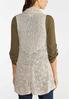 Plus Size Beige Sweater Vest alternate view