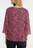 Plus Size Pink Pleated Leopard Top alternate view