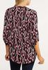 Plus Size Printed Pullover Top alternate view