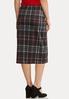 Plus Size Button Plaid Pencil Skirt alternate view