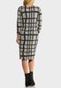 Plus Size Plaid Hacci Midi Dress alternate view