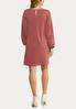 Plus Size Cutout Floral Sleeve Shift Dress alternate view
