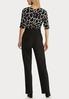 Plus Size Black White Belted Jumpsuit alternate view