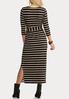 Plus Size Belted Stripe Knit Dress alternate view