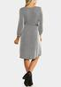 Plus Size Belted Ribbed Knit Dress alternate view