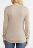 Plus Size Lace Up Thermal Top alternate view