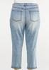 Plus Size Slim Boyfriend Jeans alternate view