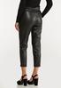 Faux Leather Belted Pants alternate view