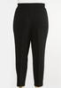 Plus Size Textured Slim Pants alternate view