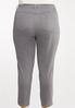 Plus Size Gray Ankle Pants alternate view