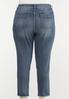 Plus Size Fray Hem Utility Jeans alternate view