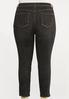 Plus Size Black High Waist Jeans alternate view