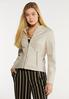 Faux Leather And Ponte Jacket alt view