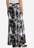 Plus Size Marble Maxi Skirt alternate view