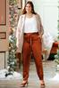 Plus Size Belted Satin Joggers alt view