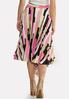 Asymmetrical Pleated Skirt alternate view