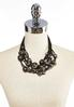 Black Chunky Bead Necklace alternate view