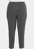 Plus Size Stripe Silver Button Pants alternate view