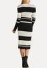 Metallic Stripe Sweater Dress alternate view