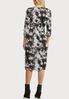 Plus Size Tie Dye Hacci Midi Dress alternate view