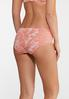 Plus Size Coral And White Lace Panty Set alt view