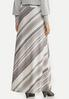 Plus Size Gray Stripe Maxi Skirt alternate view