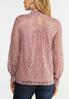 Lace Mock Neck Top alternate view