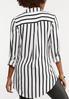 Plus Size Modern Mixed Stripe Shirt alternate view