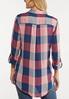 Plus Size Mauve Plaid Shirt alternate view