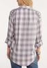 Plus Size Plaid Pullover Shirt alternate view
