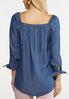 Plus Size Sweetheart Chambray Top alternate view