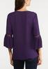 Purple Pleated Sleeve Top alternate view