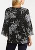 Plus Size Gray Floral Pullover Top alternate view
