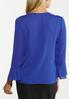 Plus Size Royal Ruffled Top alternate view