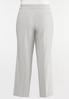 Plus Size Gray Trouser Pants alternate view
