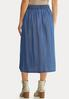 Plus Size Chambray Button Down Skirt alternate view