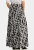 Plus Size Windowpane Maxi Skirt alternate view