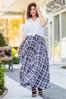Plus Size Windowpane Maxi Skirt alt view