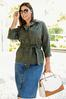 Plus Size Belted Utility Jacket alt view