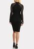 Plus Size Illusion Sleeve Sweater Dress alternate view