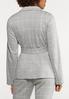 Plus Size Plaid Knit Blazer alternate view