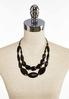 Black Bead Cord Necklace alternate view